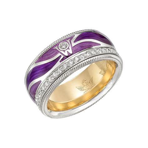 wellendorff quot purple wings quot ring betteridge
