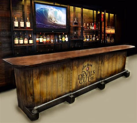 home bar custom built rustic whiskey pub by