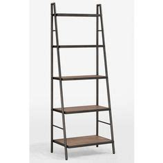 25 Inch High Bookcase Crate Barrel Sloane Java 18 Quot Leaning Bookcase Crate