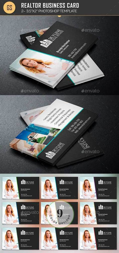 realtor cards template real estate business card template by godserv2 graphicriver