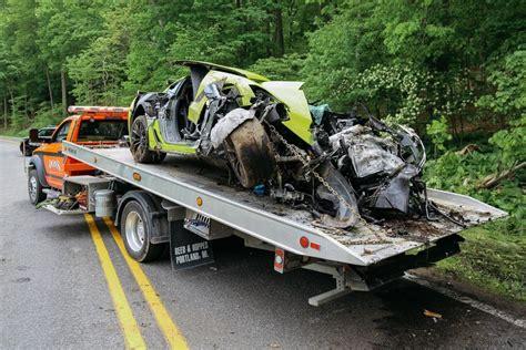 corvette crashes driver crashes z06 corvette after hitting 125 mph