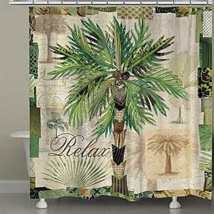 palm shower curtain laural home 174 palm scrapbook shower curtain www