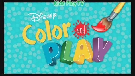 color and play disney color and play app drawing and painting