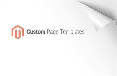 magento custom template magento custom page templates