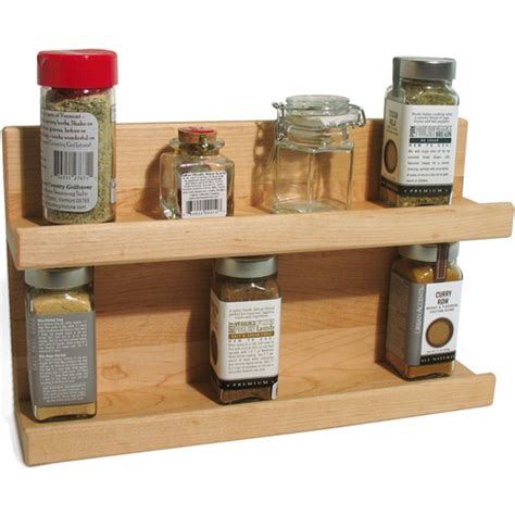Kitchen Spice Shelf Two Tier Wooden Kitchen Spice Rack In Spice Racks