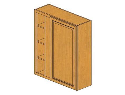 WBLC39/42 3642 Country Oak Wall Blind Corner Cabinet