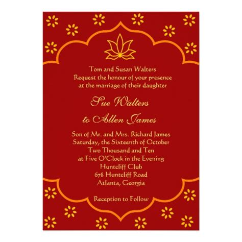 indian wedding invitation template modern indian wedding invitation 5 quot x 7 quot invitation card