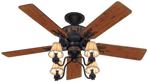 Ceiling Fan Rustic by 52 Quot Rustic Lodge Bronze 4 Light Fixture