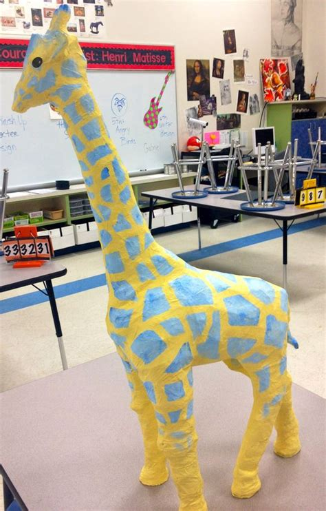 How To Make A Paper Mache Giraffe - make the paper mache giraffe calf size with a base