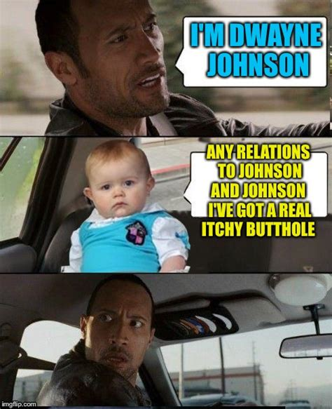 Dwayne Johnson Car Meme - the rock driving dad joke baby imgflip