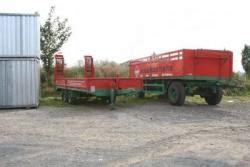 Kosten Für Ein Hausbau by 2 Rote Lkw Anh 195 164 Nger F 195 188 R Transport Baustoffen