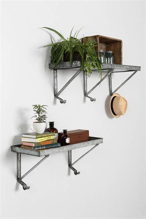 metal wall shelves galvanized metal wall shelf outfitters
