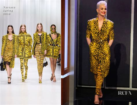 Donatella Versace On Jimmy Kimmel by Katy Perry In Versace Jimmy Kimmel Live Carpet