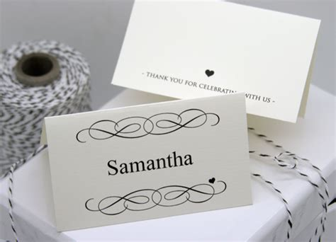 Free Diy Printable Place Card Template And Tutorial Polka Dot Bride Table Place Cards Template