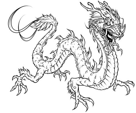 free coloring pages paint dragons