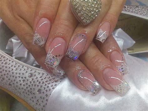 imagenes uñas decoradas blancas unghii de mireasa cu sclipici sfaturi si idei pentru