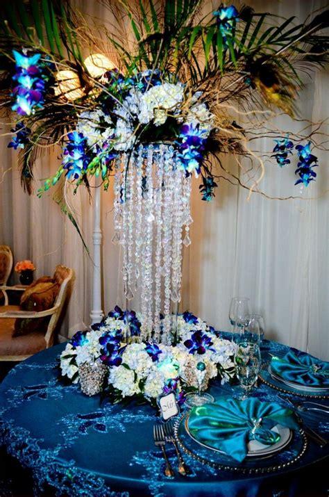 peacock wedding centerpieces wedding and bridal inspiration