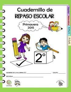 segundo grado de educacion primaria listo para imprimir material de cuadernillo de repaso escolar para el segundo grado