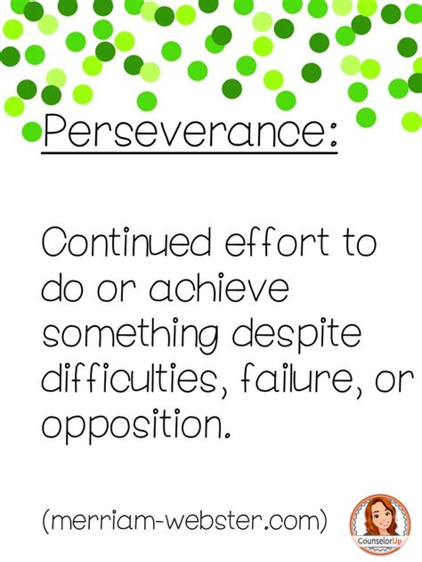 Pre Mba Def by Perseverance Definition Www Pixshark Images