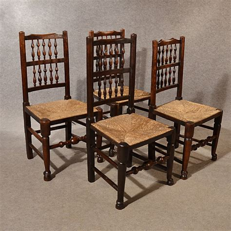 Antique Dining Chairs Uk Antique Kitchen Dining Chairs Lancashire Spindle Back Quality Ash Elm C1800 283970