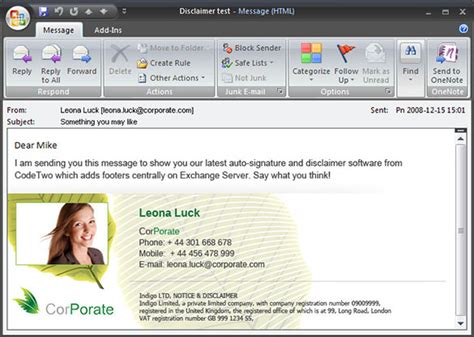 12 outlook email signature templates sles exles