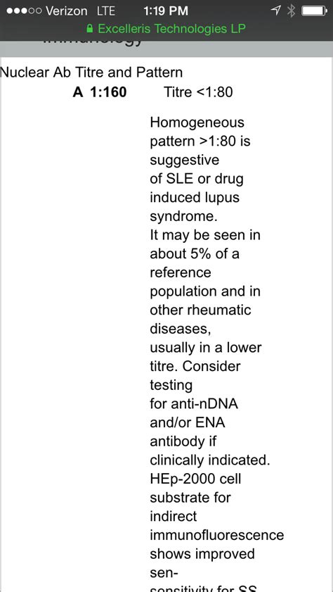 pattern analysis sle test diagnosis positive ana test suggestive of lupus sle but