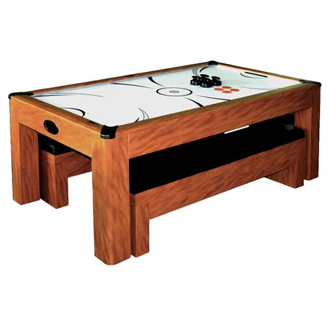 hockey air hockey table sherwood 7 ft air hockey table set with benches pool