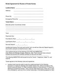 Room Rental Agreement Template Free by Room Rental Agreement Template 8 Free Word Pdf Free