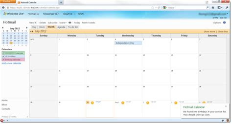 Calendario Hotmail Msn Windows Live Messenger De Hotmail De Outlook De Skype