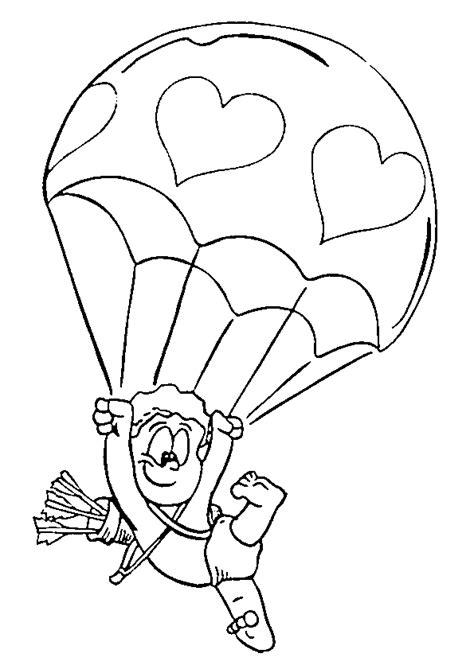 army parachute coloring pages coloriage amour saint valentin ciel hugolescargot com