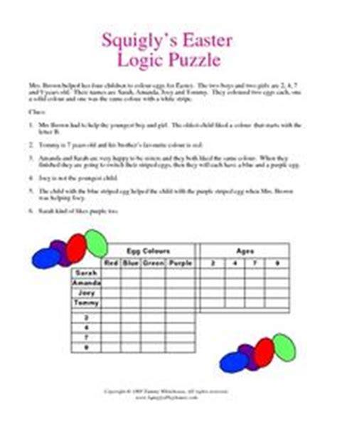 printable easter logic puzzles 4th grade logic puzzles pdf logic puzzles worksheets pdf