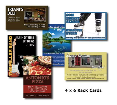 Rack Card Dimensions by Buy Upload Files 4 Quot X 6 Quot Rack Cards
