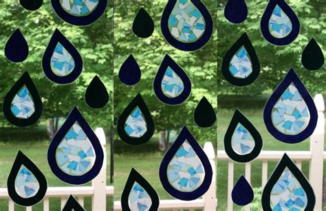How To Make Paper Glass - tissue paper stained glass raindrops homeschool companion