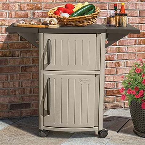 Suncast Patio Cabinet And Prep Station by New Suncast Dcp2000 Portable Outdoor Patio Prep Serving