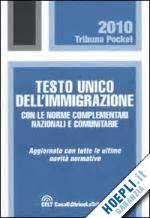 testo sull immigrazione testo unico dell immigrazione la tribuna libro