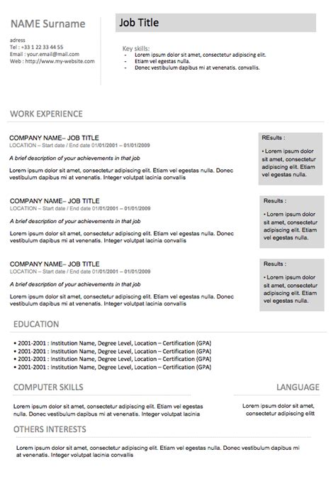 Resume Exles Modern Functional Resume Template Modern Resume 7 Exles Of