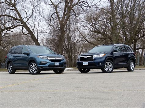 Compare Honda Pilot And Toyota Highlander Comparison Honda Pilot Vs Toyota Highlander Toronto