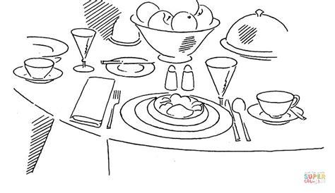 tavola per disegnare disegno di tavola apparecchiata da colorare disegni da