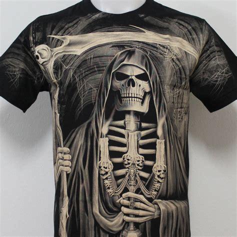 T Shirt The Reaper grim reaper skull rock eagle discharge t shirt g29