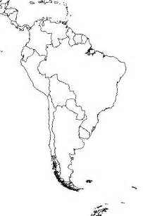 free blank outline map of south america