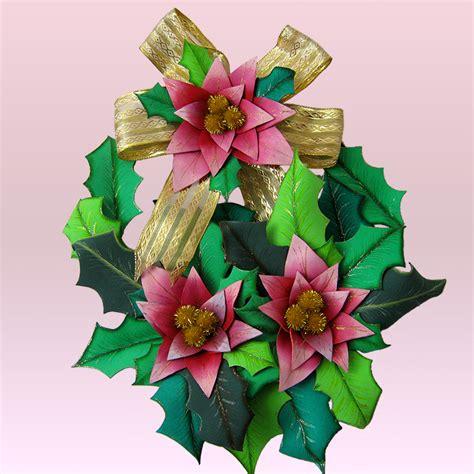 rosas moldes de flores para hacer arreglos florales en fomi goma eva hd terearte corona navide 241 a con flores y follaje en foamy