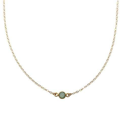 aqua chalcedony gold choker necklace by a box for my