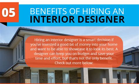 hiring a designer for home renovation infographic 5 benefits of hiring an interior designer