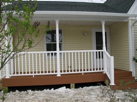 Front Porch Front Porch Design Idea With Beige Siding Wall