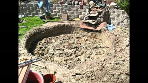 digging a backyard pond how to build a backyard concrete pond or pool part one