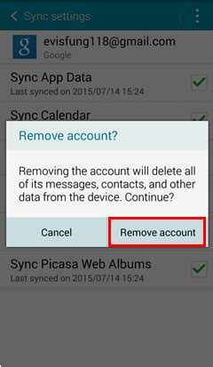 remove account android how to delete gmail account on android