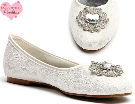 flat ivory lace wedding shoes wedding shoes by perdita s wedding and bridal shoes