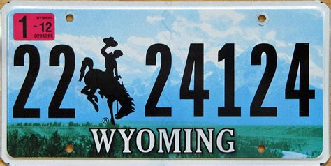 Wyoming Vanity Plates by Wyoming 2 Y2k