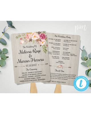 diy wedding program fans template bargains on diy wedding program fan template bohemian