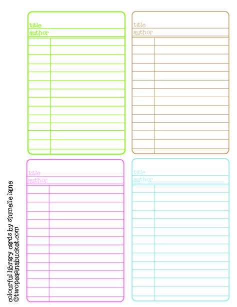 printable library cards template 8 best images of free printable password chart printable